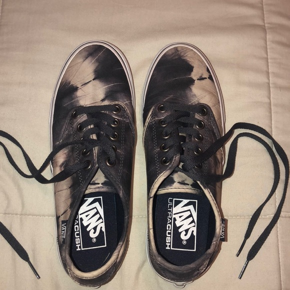 Gray tie dye Vans *Gently worn*